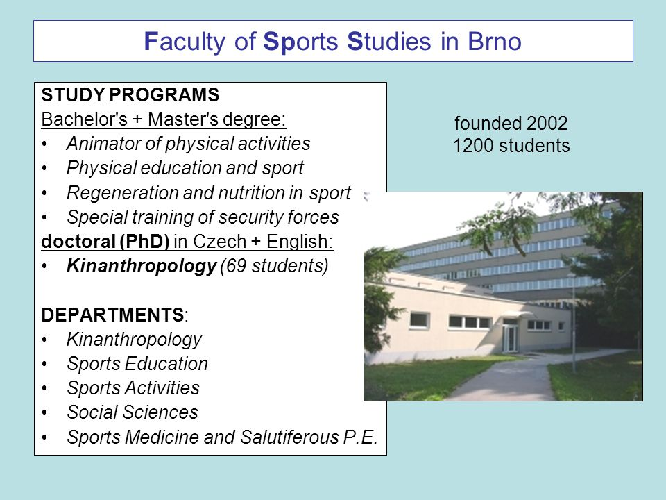 Faculty of Sports Studies in Brno