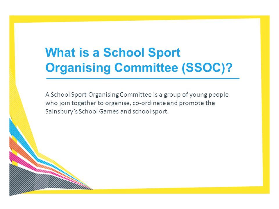 What is a School Sport Organising Committee (SSOC)