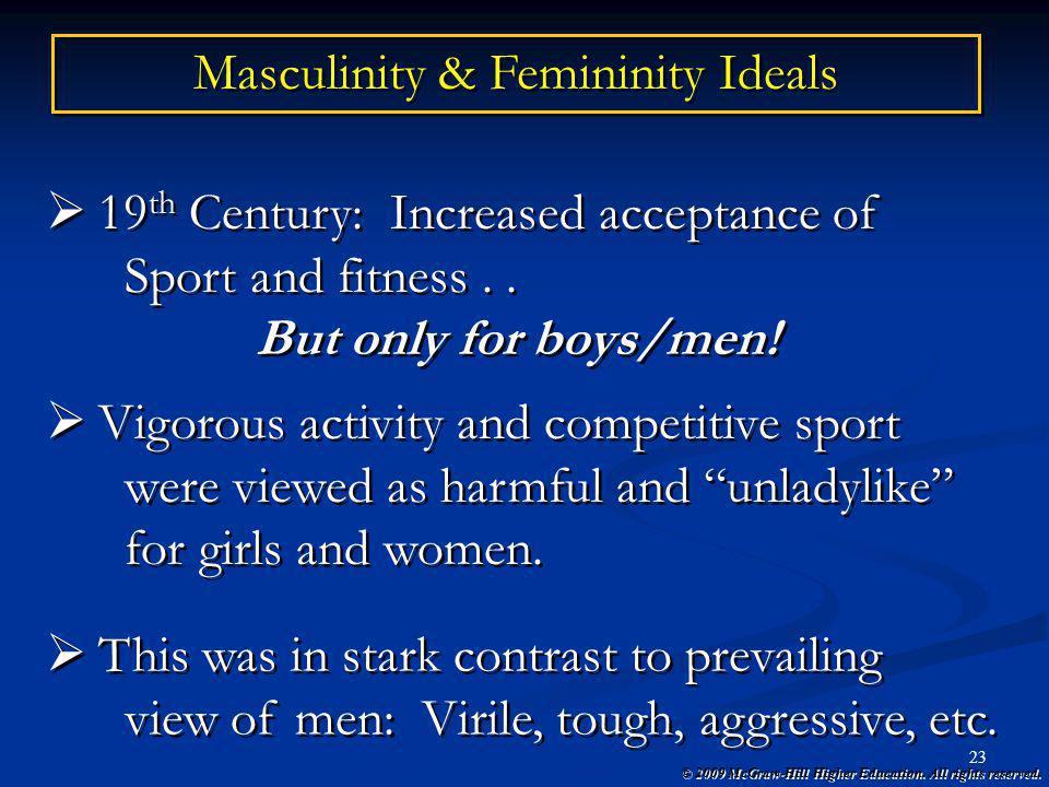 Masculinity & Femininity Ideals