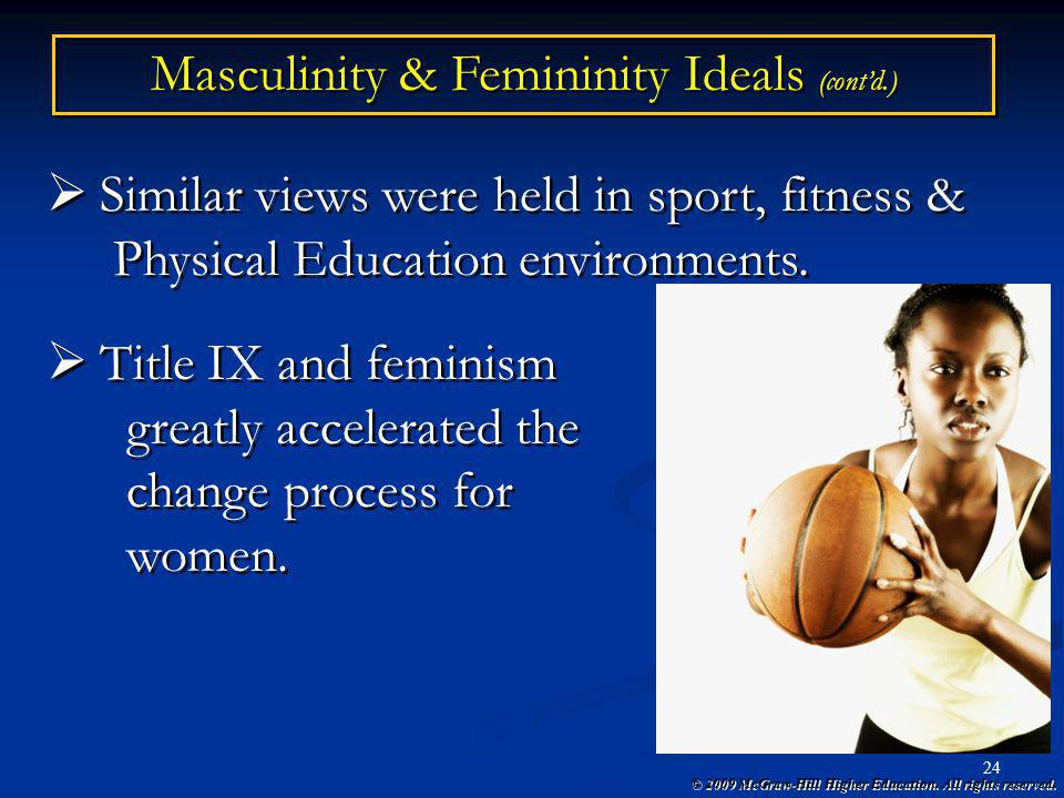 our ideals of femininity and masculinity When their masculinity is threatened, men feel the need to reassert their gender men who fall short of masculine ideals tend to overcompensate by playing up their manliness and rejecting anything feminine men have a lot of power in our society.