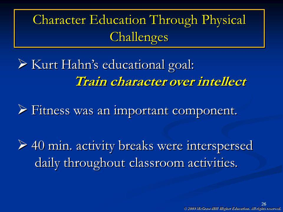 Character Education Through Physical Challenges
