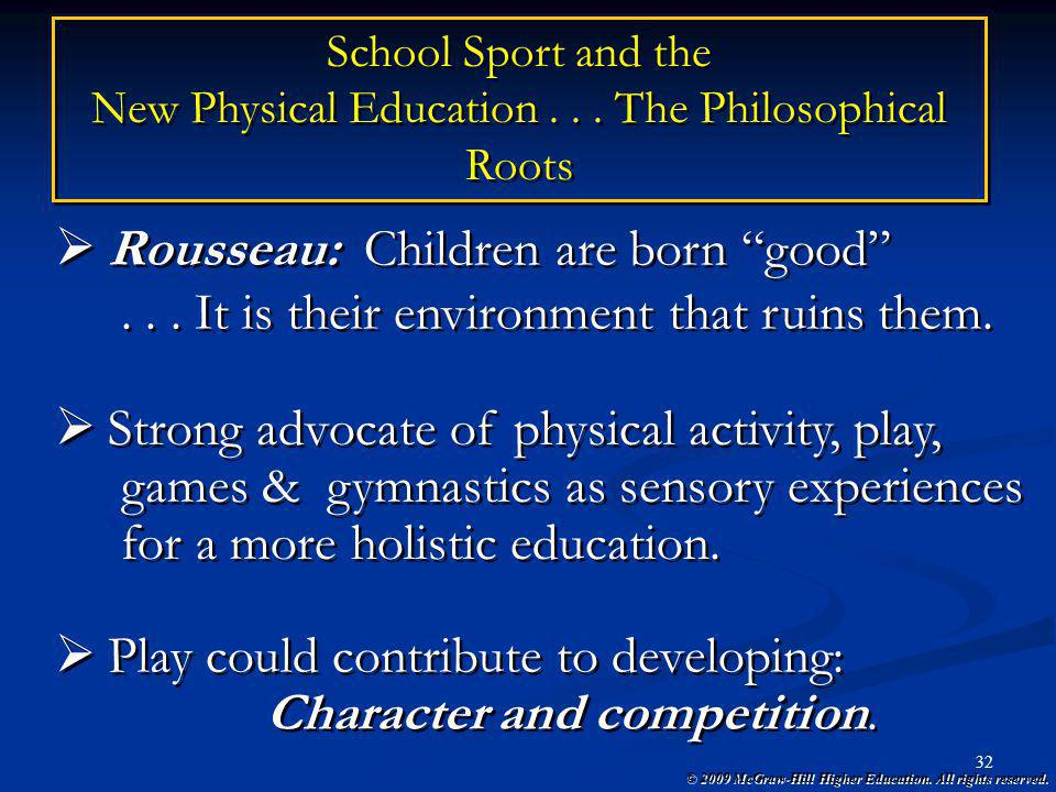 New Physical Education The Philosophical Roots