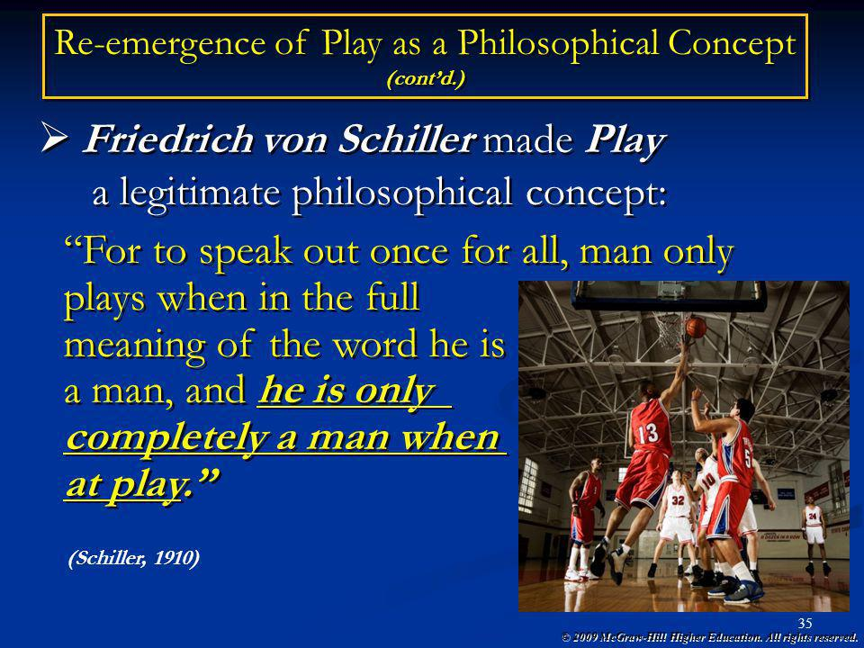 Re-emergence of Play as a Philosophical Concept (cont'd.)