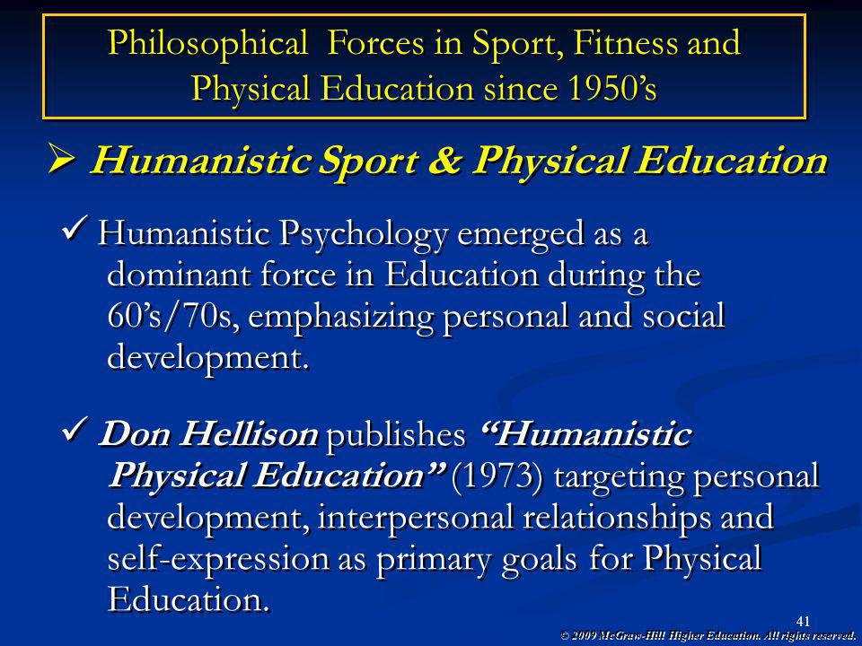 Humanistic Sport & Physical Education