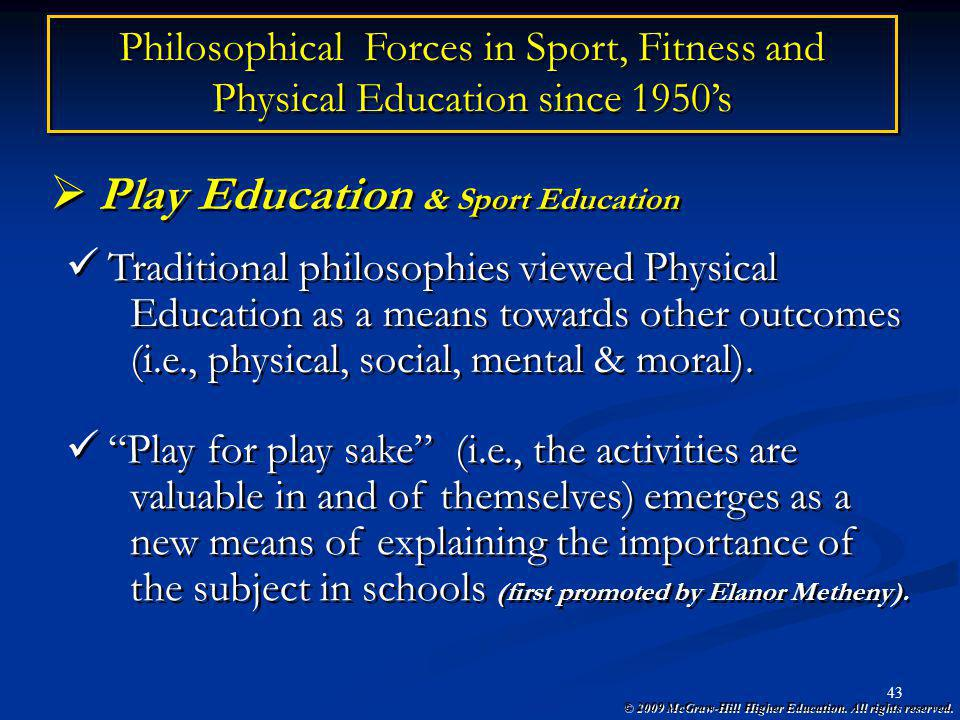 Play Education & Sport Education