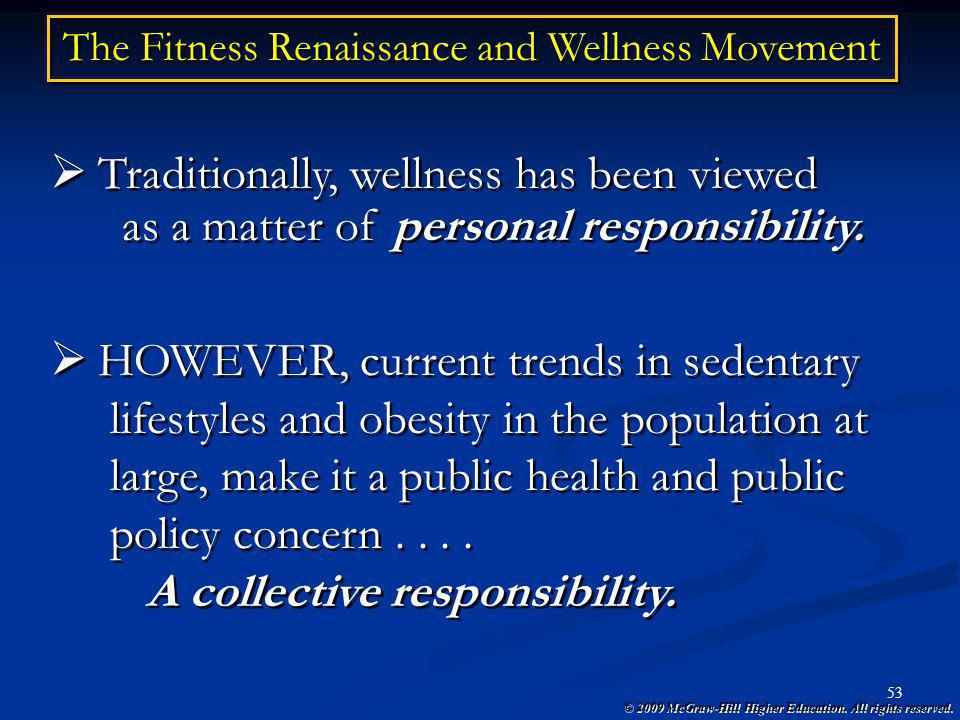 The Fitness Renaissance and Wellness Movement
