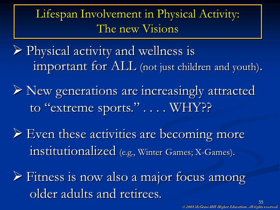 Lifespan Involvement in Physical Activity: