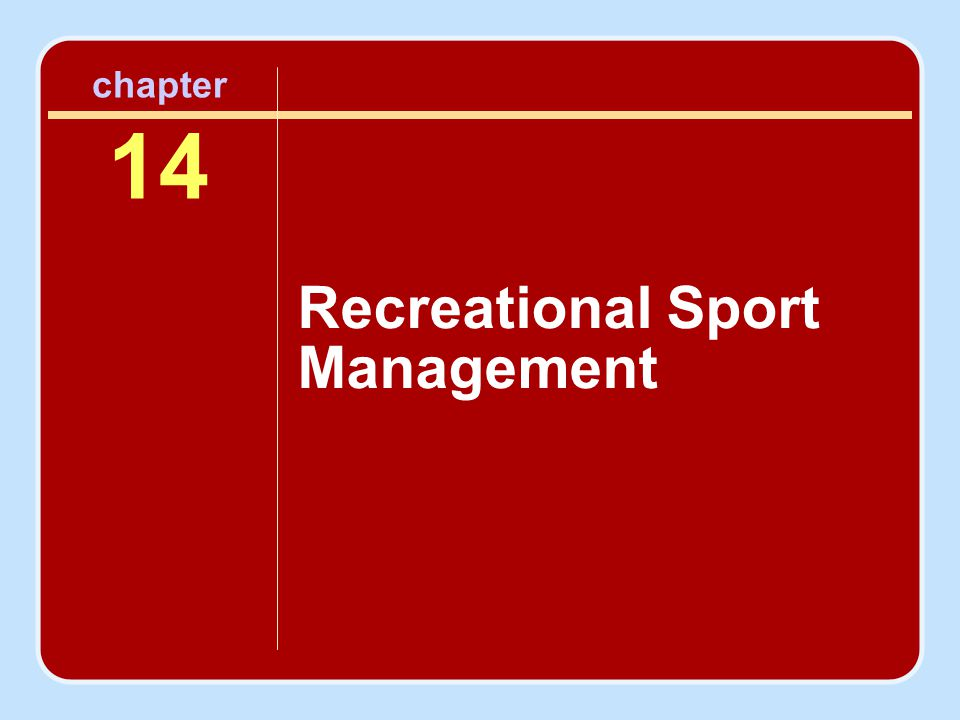 Recreational Sport Management