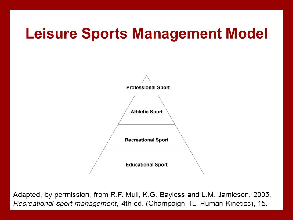 Leisure Sports Management Model