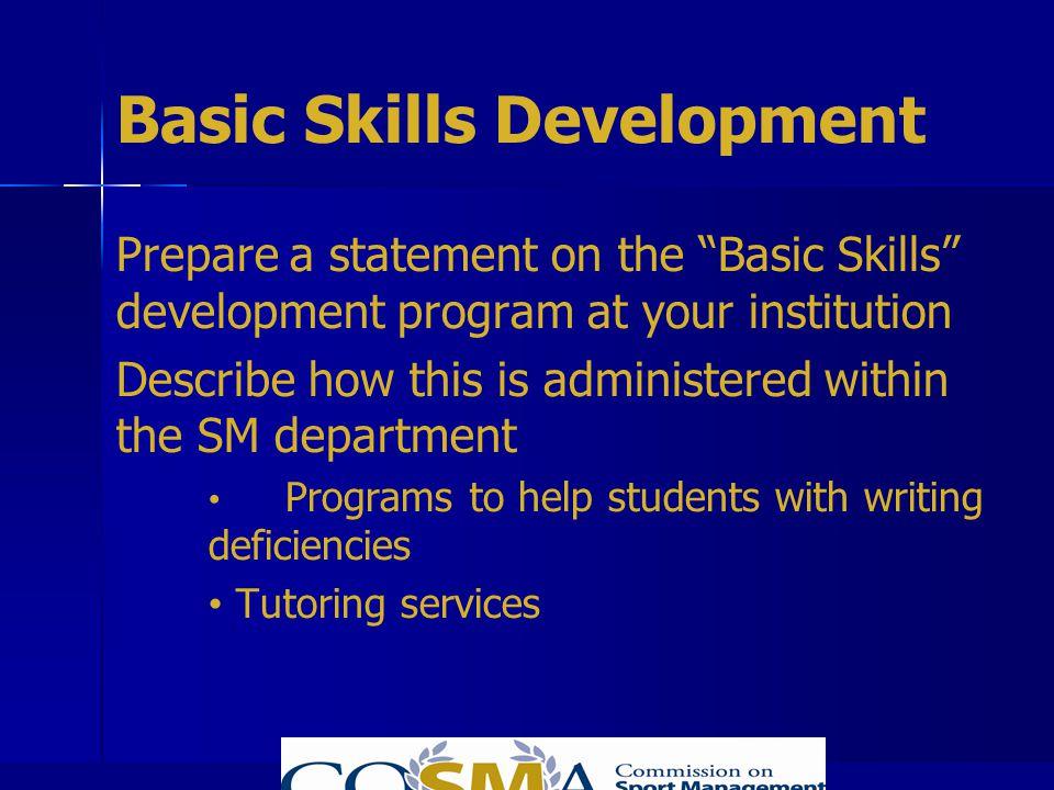 Basic Skills Development