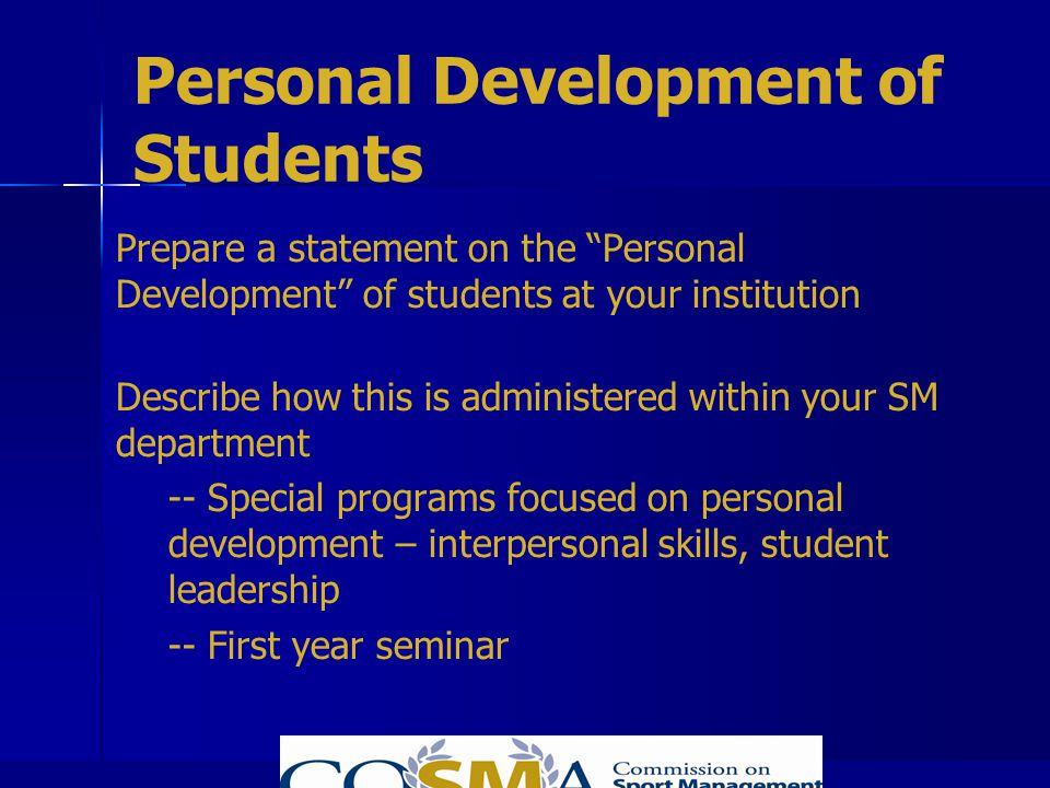 Personal Development of Students