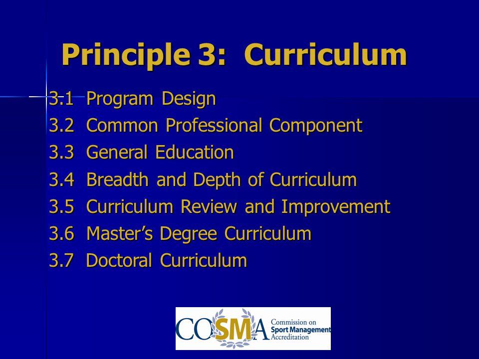 Principle 3: Curriculum