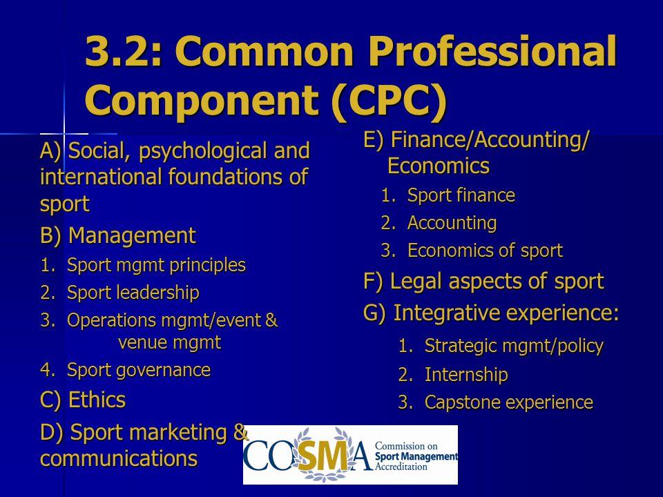 3.2: Common Professional Component (CPC)