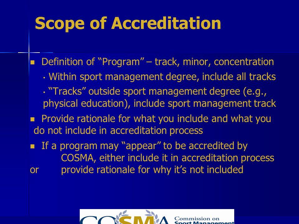 Scope of Accreditation