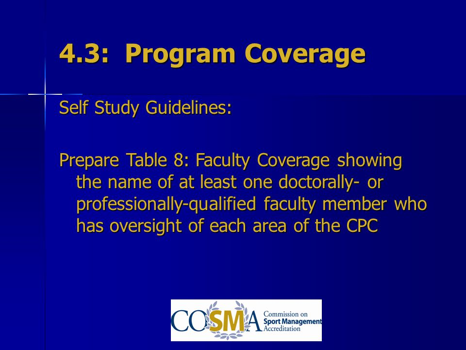 4.3: Program Coverage Self Study Guidelines: