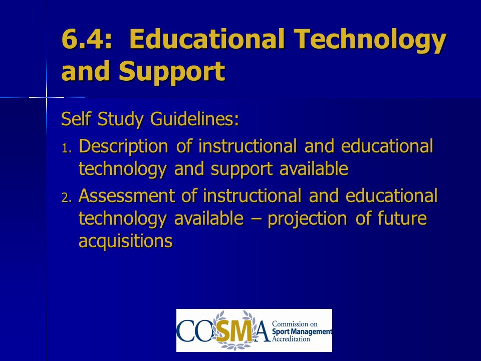 6.4: Educational Technology and Support