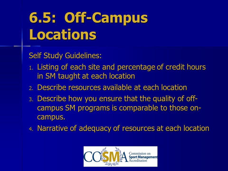 6.5: Off-Campus Locations
