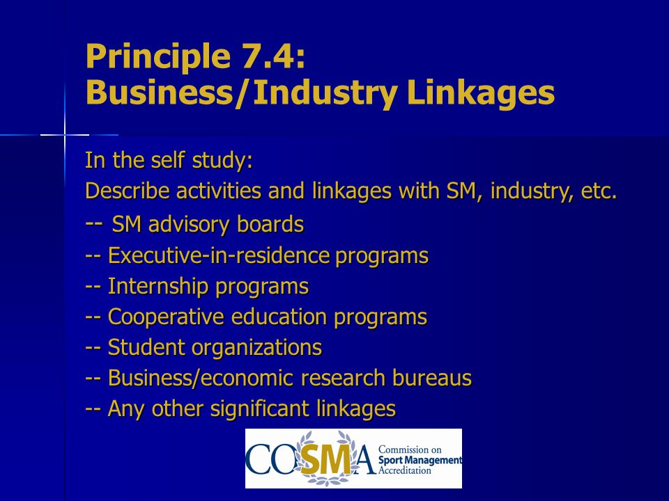 Principle 7.4: Business/Industry Linkages