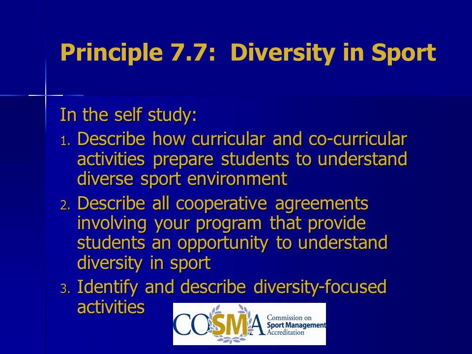 Principle 7.7: Diversity in Sport