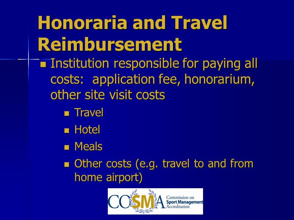 Honoraria and Travel Reimbursement