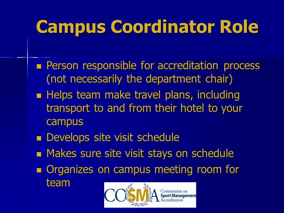 Campus Coordinator Role