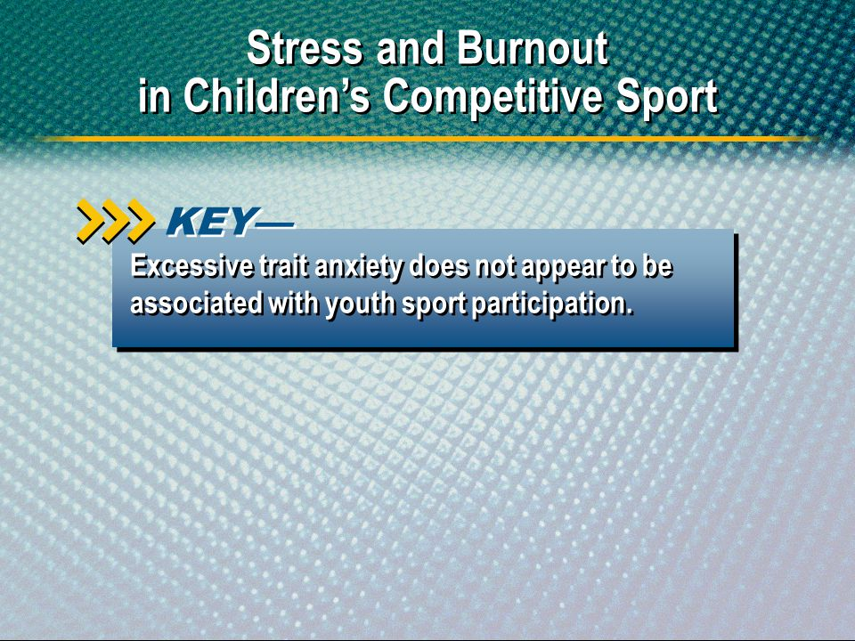 in Children's Competitive Sport
