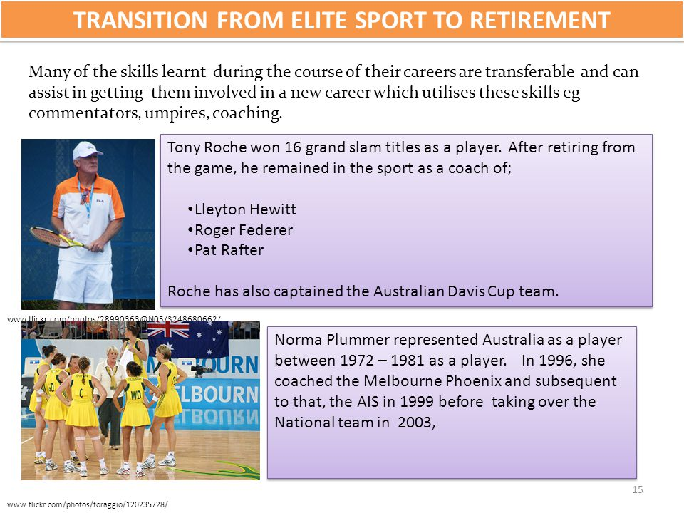 TRANSITION FROM ELITE SPORT TO RETIREMENT