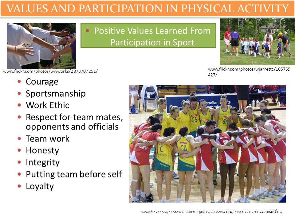 VALUES AND PARTICIPATION IN PHYSICAL ACTIVITY