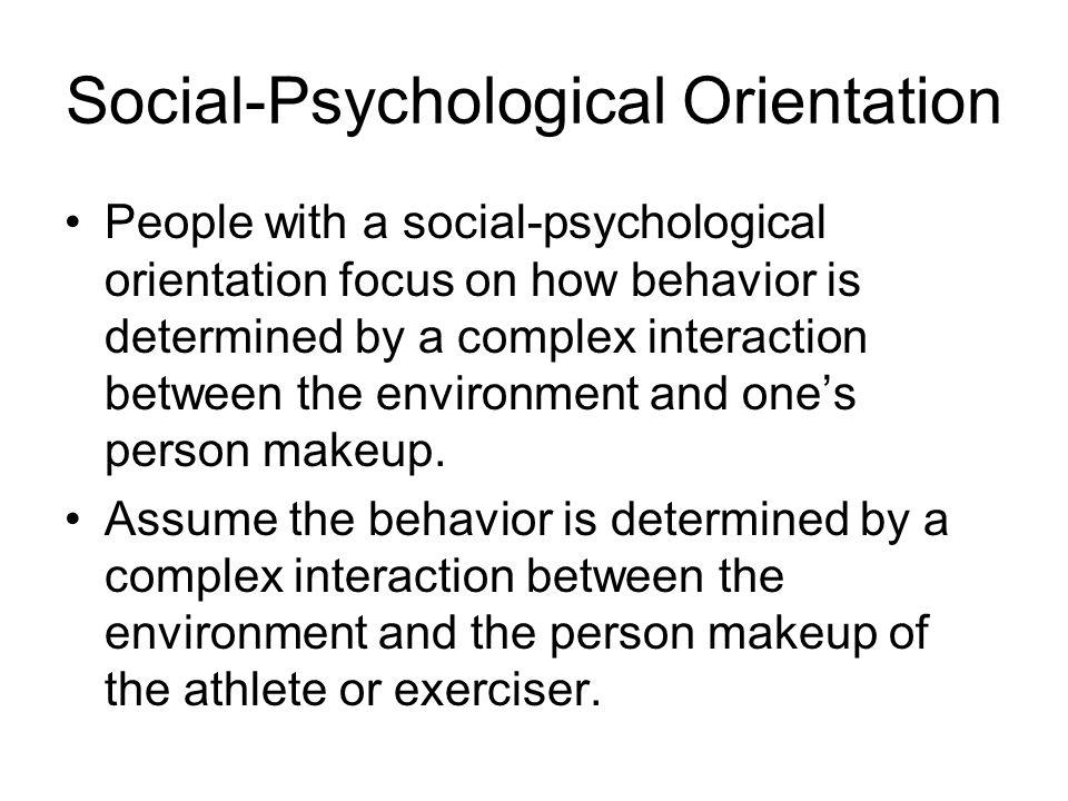 Social-Psychological Orientation