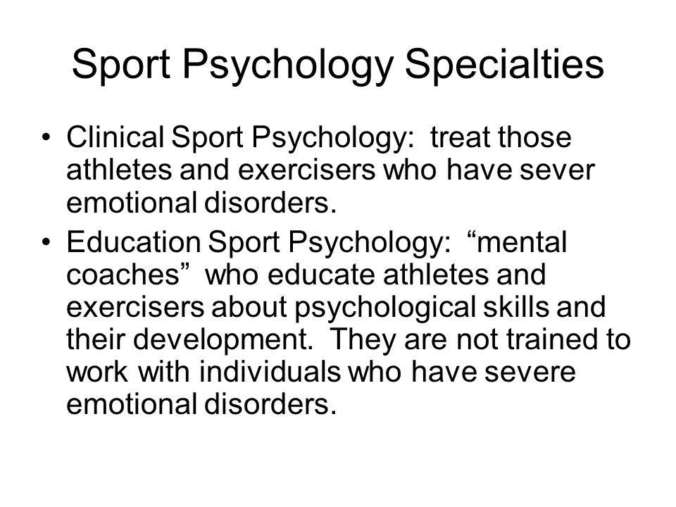 Sport Psychology Specialties