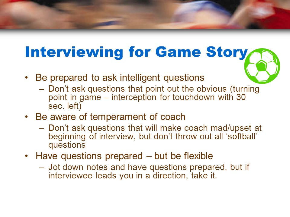 Interviewing for Game Story