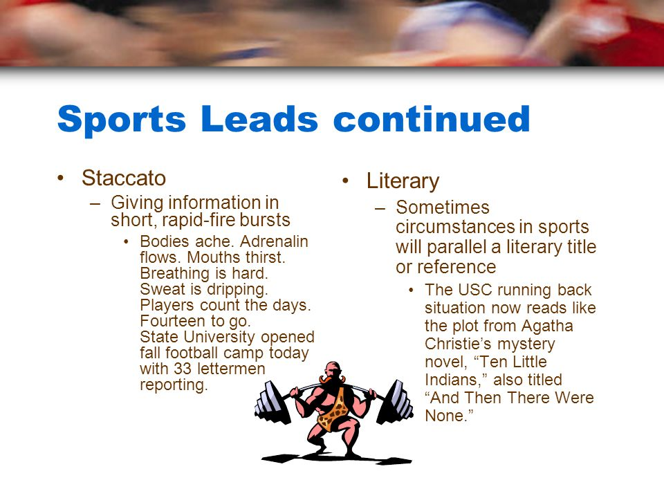 Sports Leads continued