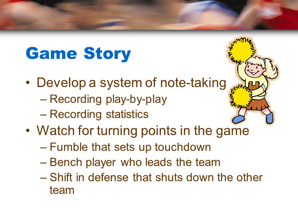 Game Story Develop a system of note-taking