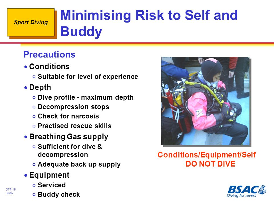Minimising Risk to Self and Buddy