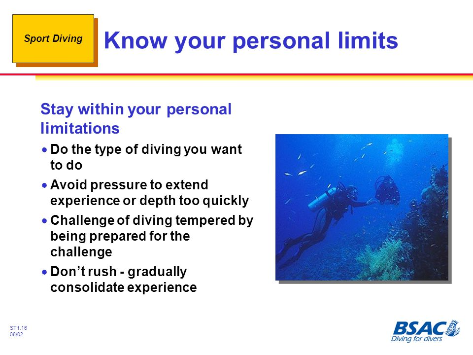 Know your personal limits