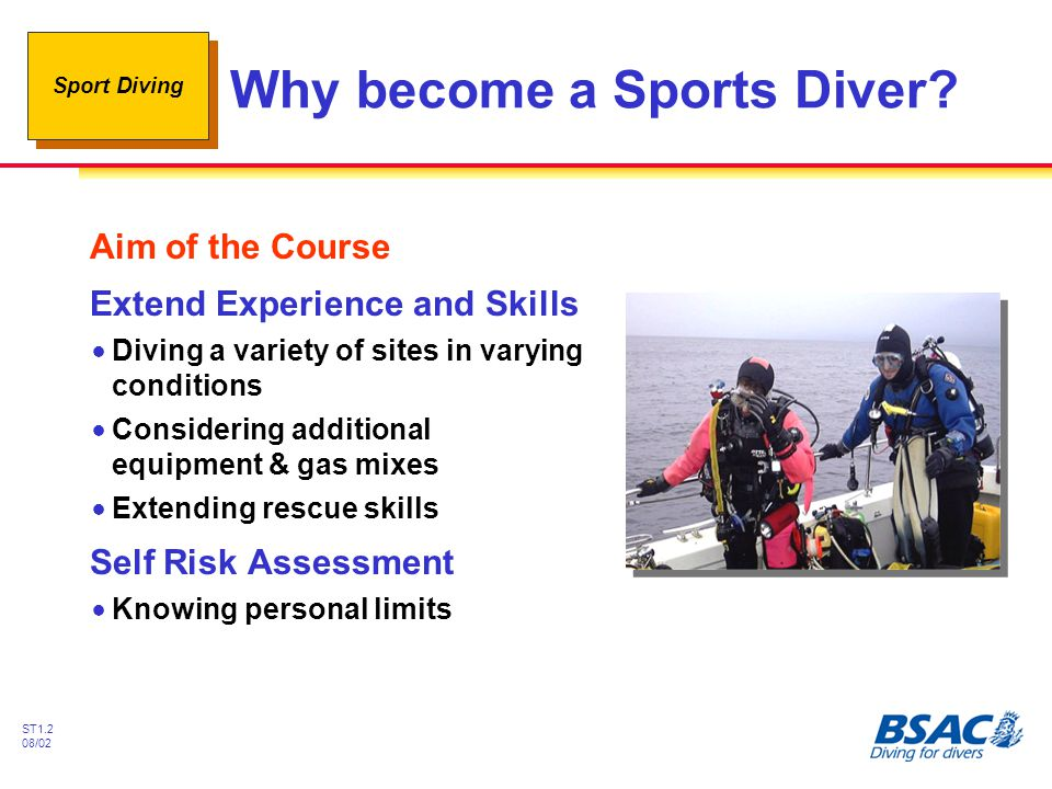Why become a Sports Diver