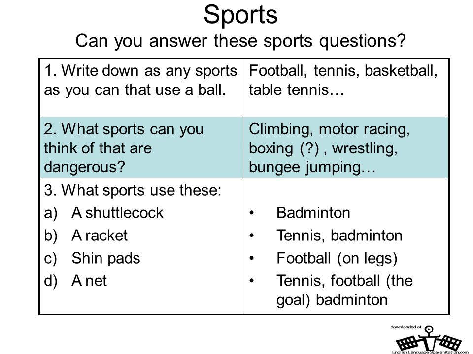 Sports Can you answer these sports questions