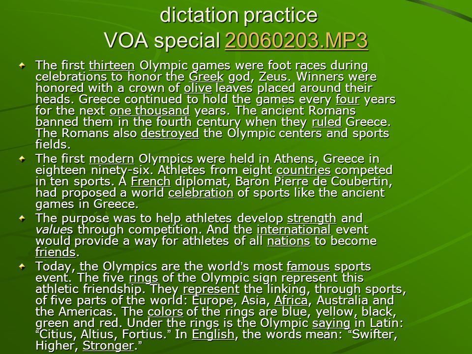 dictation practice VOA special 20060203.MP3