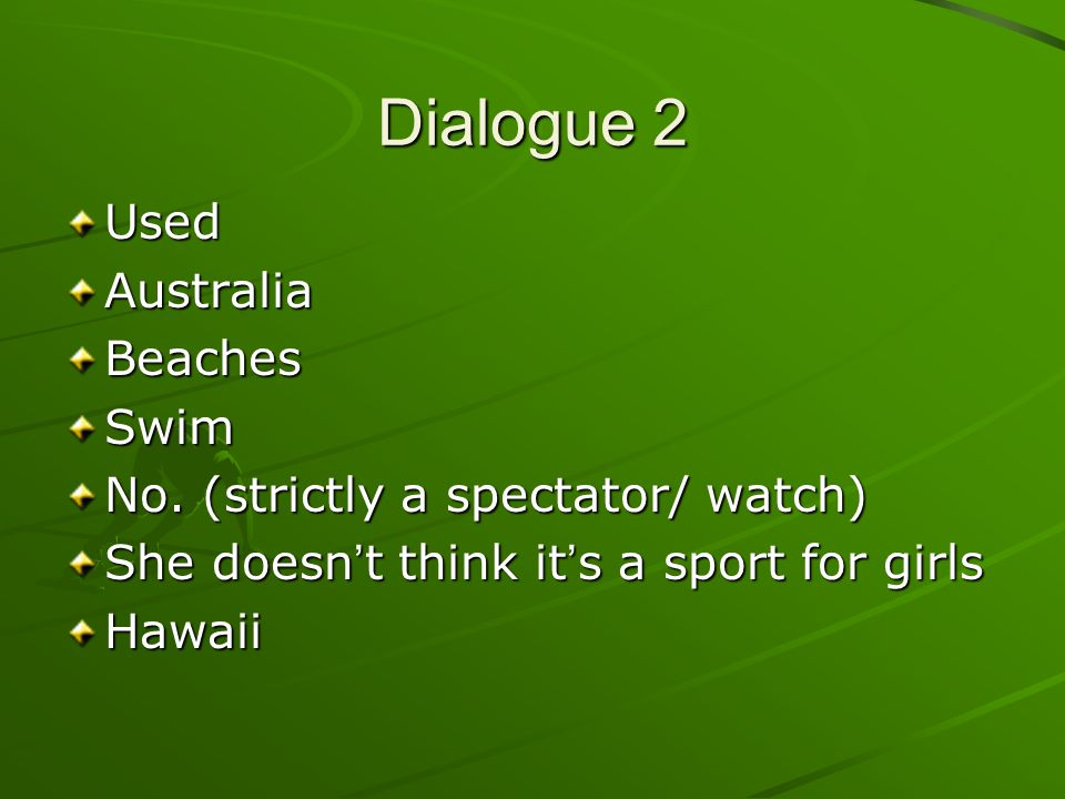 Dialogue 2 Used Australia Beaches Swim