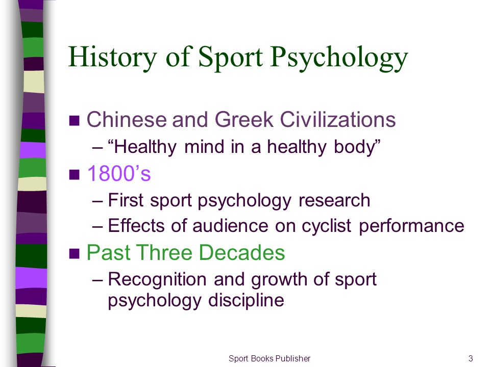 History of Sport Psychology