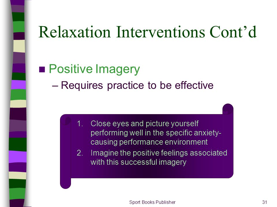 Relaxation Interventions Cont'd