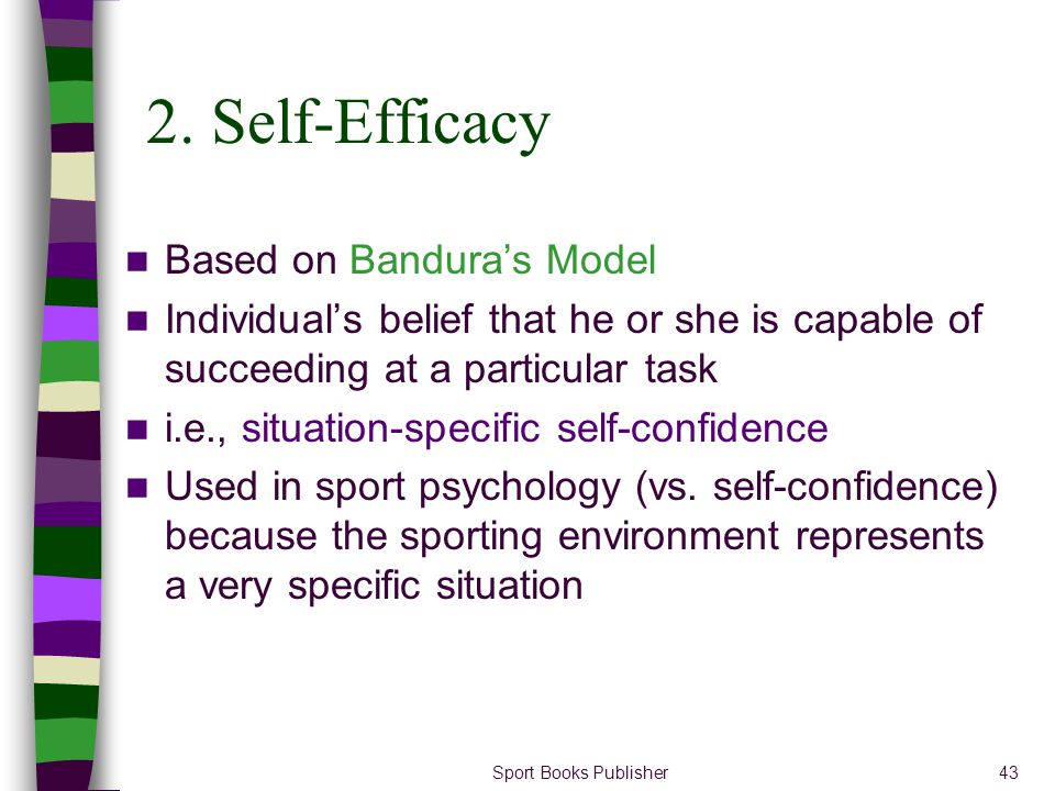 2. Self-Efficacy Based on Bandura's Model