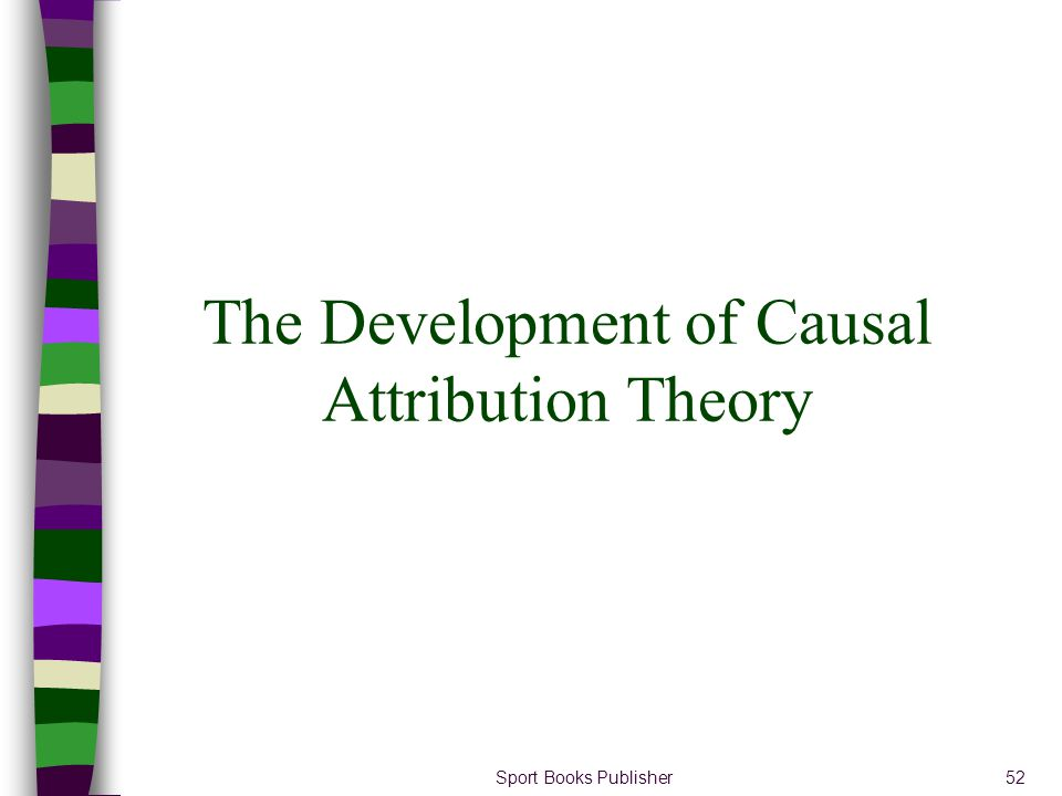 The Development of Causal Attribution Theory