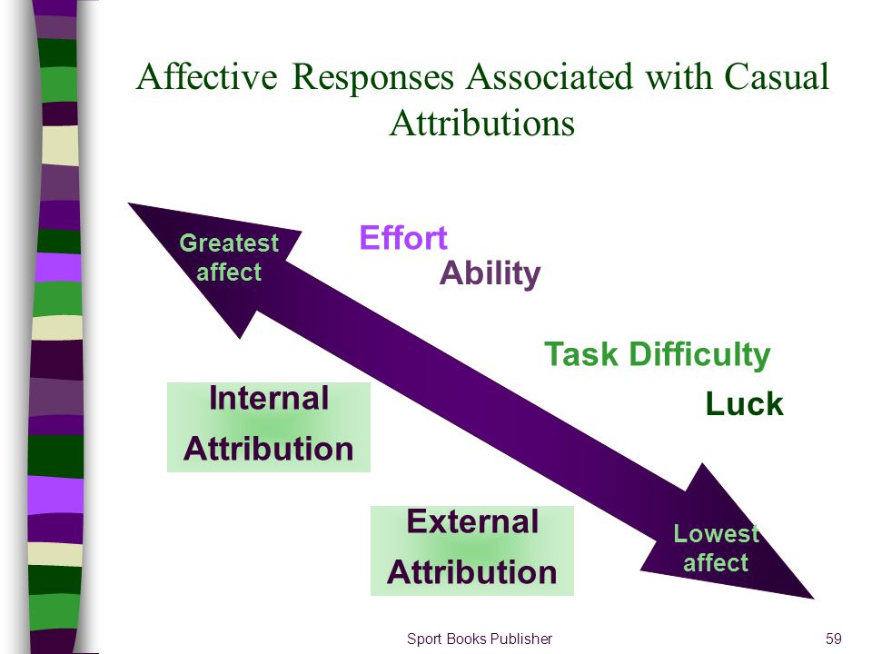 Affective Responses Associated with Casual Attributions