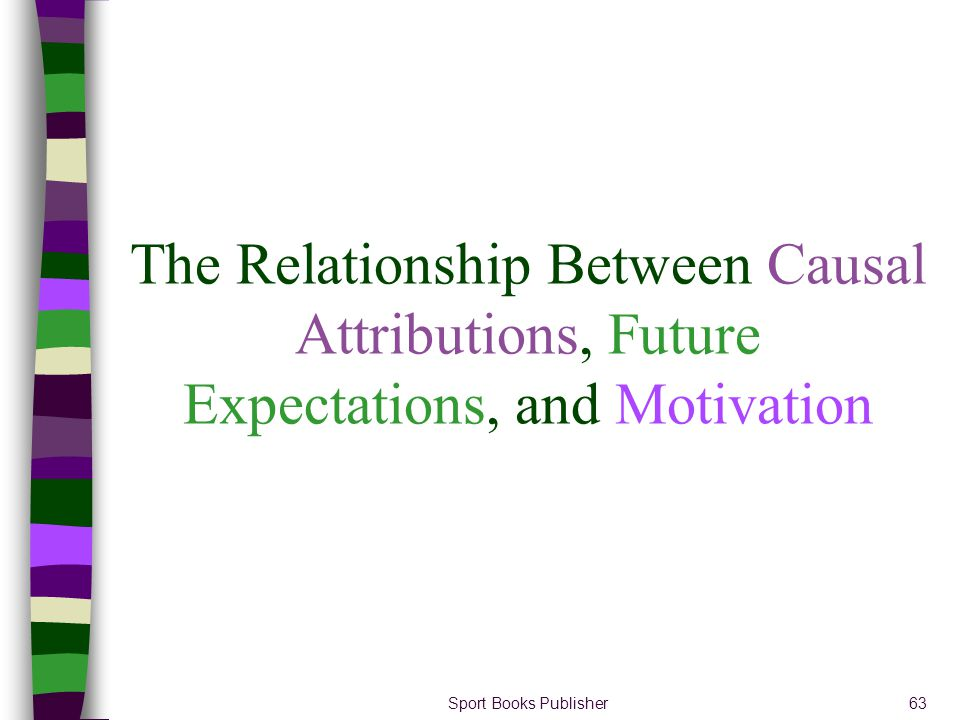 The Relationship Between Causal Attributions, Future Expectations, and Motivation