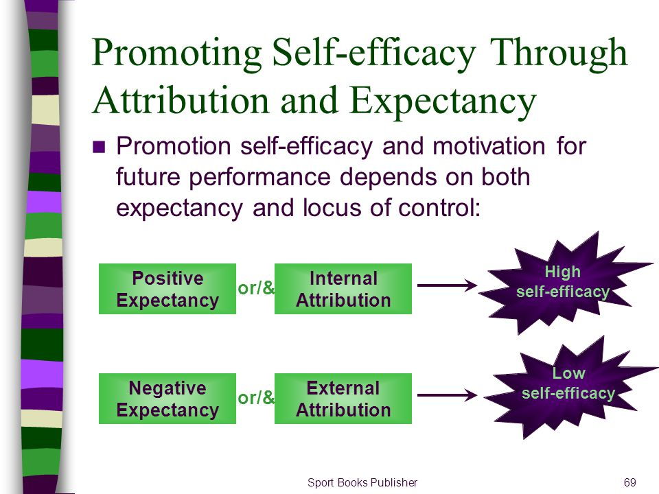 Promoting Self-efficacy Through Attribution and Expectancy