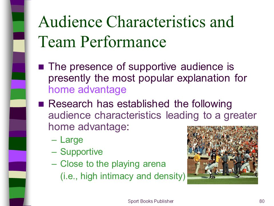 Audience Characteristics and Team Performance