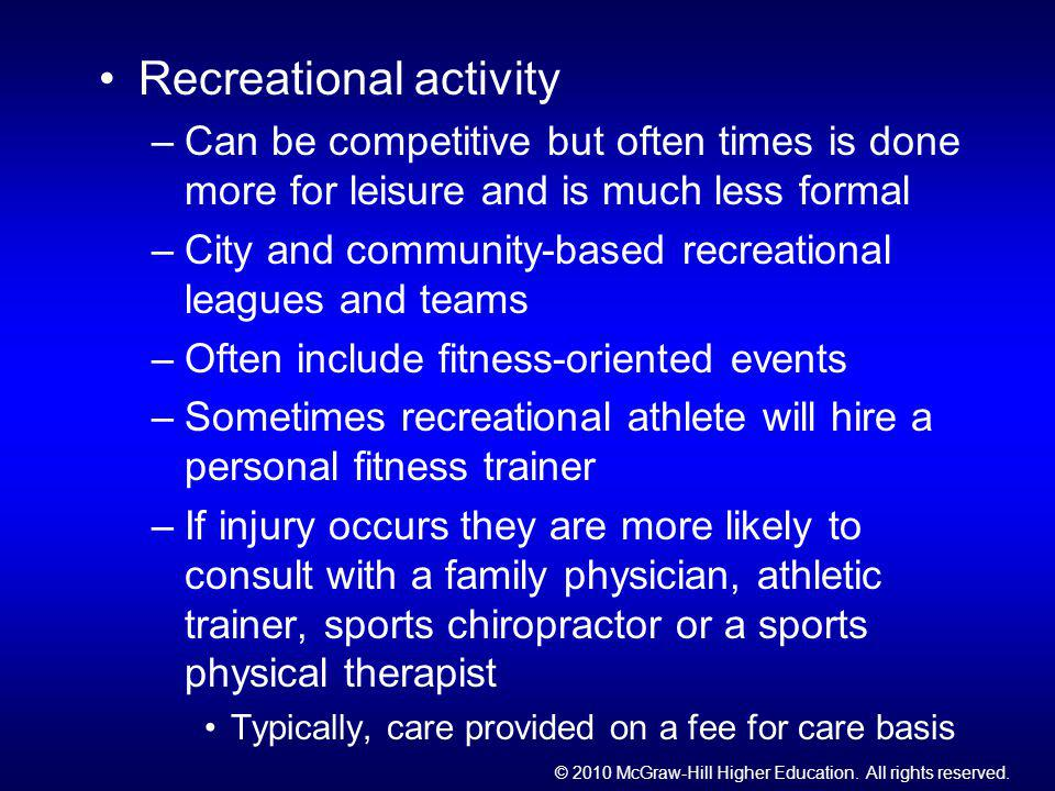 Recreational activity