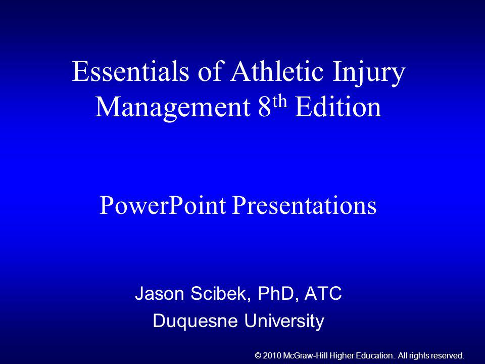 Jason Scibek, PhD, ATC Duquesne University