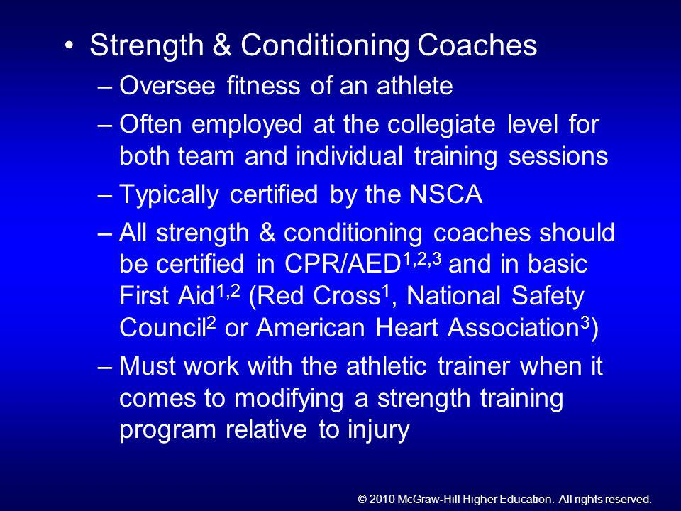 Strength & Conditioning Coaches